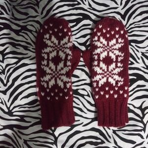 Women Christmas printed Gloves